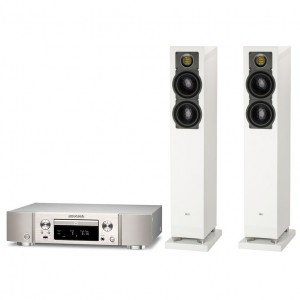Marantz PM8006 Silver Gold+Elac FS 247.3 High Gloss White